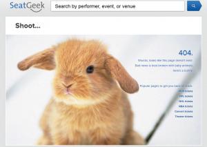 Страница 404 с печальным кроликом